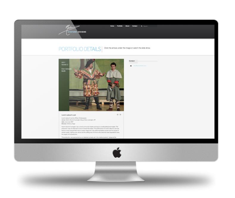 Nelson Fields Costume Design Web Site
